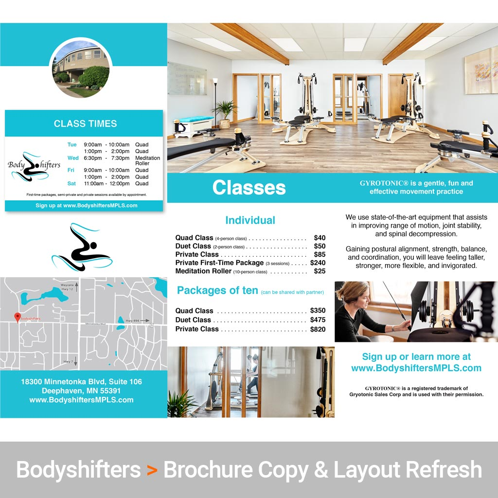 Marketing Consulting Services for Bodyshifters Movement Studio