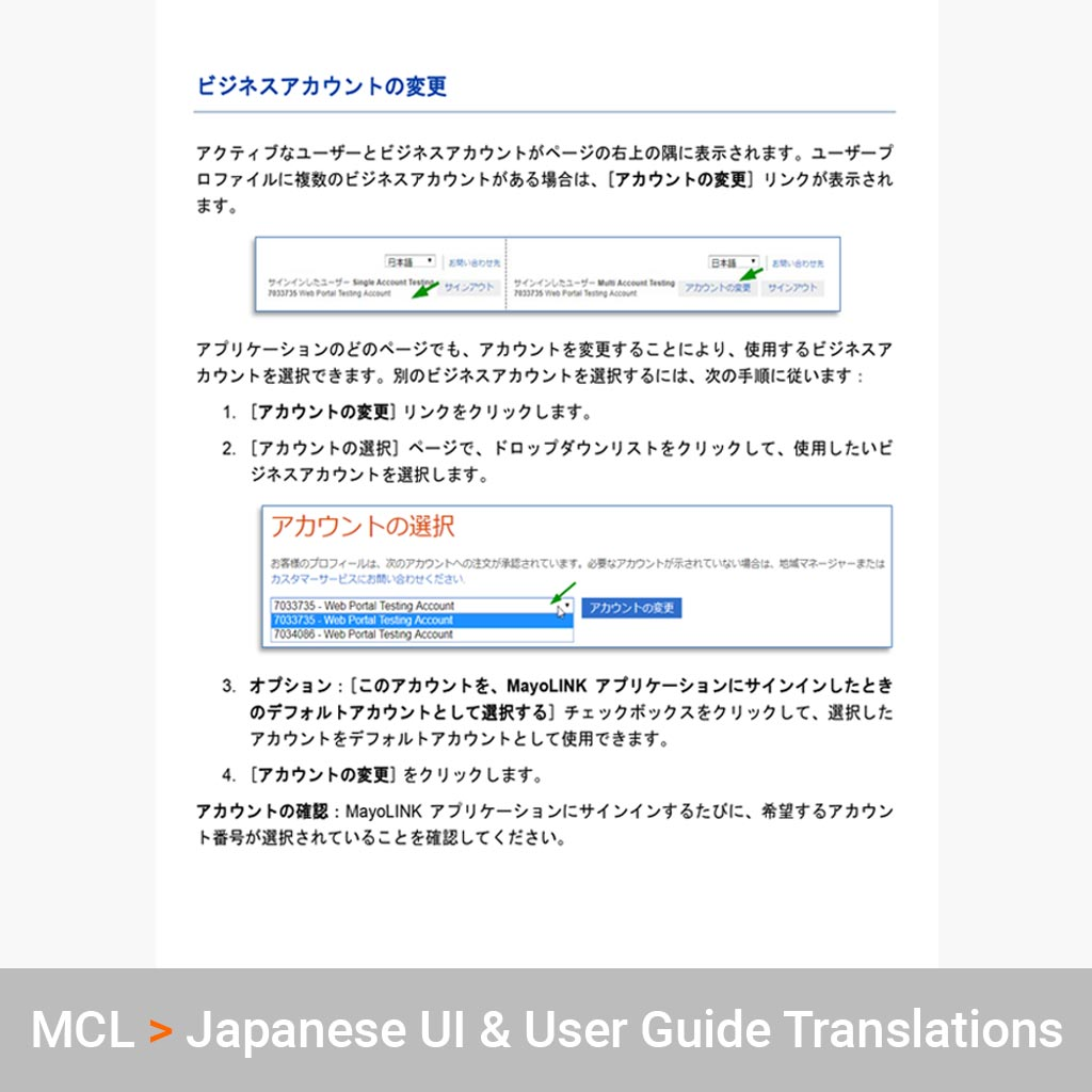 Japanese Translation Services for Mayo Clinic Laboratories